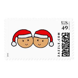 Twin Santa Hat Graphic Postage