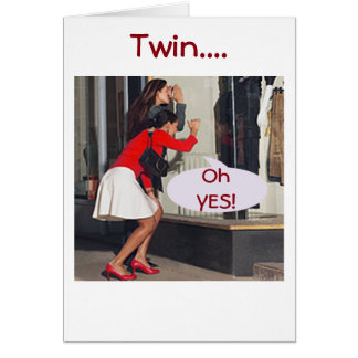 TWIN SAY YES TO THE DRESS-BIRTHDAY SHOPPING CARD