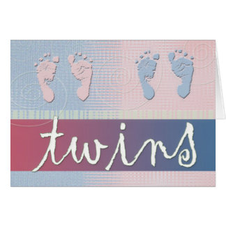Twin Shower or Announcement card