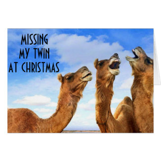 TWIN=SINGING THE BLUES-MISS U AT CHRISTMAS TIME! GREETING CARD