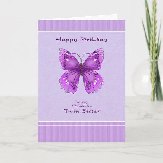 Twin Sister Birthday Card