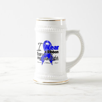 Twin Sister - Colon Cancer Ribbon 18 Oz Beer Stein