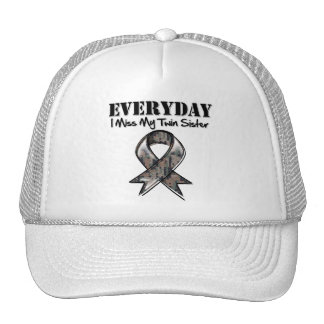 Twin Sister - Everyday I Miss My Hero Military Hat