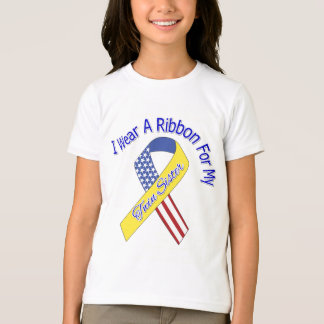 Twin Sister - I Wear A Ribbon Military Patriotic T-Shirt