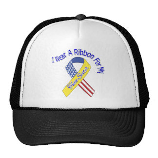 Twin Sister - I Wear A Ribbon Military Patriotic Trucker Hat