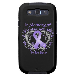 Twin Sister - In Memory Heart Ribbon Hodgkins Dise Galaxy S3 Cover