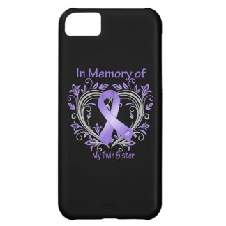 Twin Sister - In Memory Heart Ribbon Hodgkins Dise iPhone 5C Case
