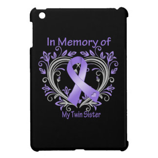 Twin Sister - In Memory Heart Ribbon Hodgkins Dise Case For The iPad Mini