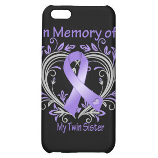 Twin Sister - In Memory Heart Ribbon Hodgkins Dise Case For iPhone 5C