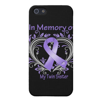 Twin Sister - In Memory Heart Ribbon Hodgkins Dise iPhone 5 Cover