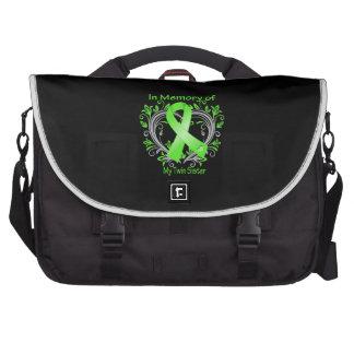 Twin Sister  - In Memory Lymphoma Heart Laptop Bag