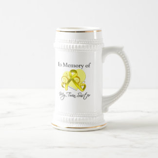 Twin Sister - In Memory of Military Tribute Beer Stein