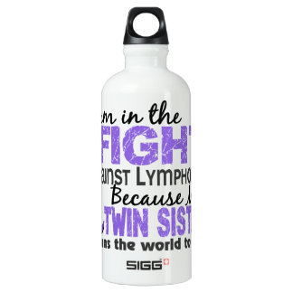 Twin Sister Means World To Me H Lymphoma.png Water Bottle