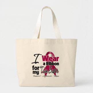 Twin Sister - Multiple Myeloma Ribbon Canvas Bags