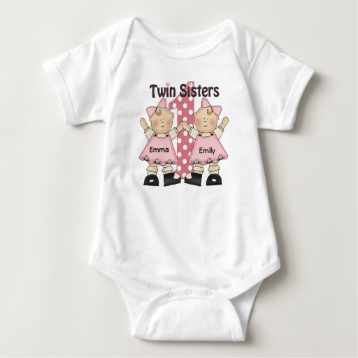 Twin Sister Sweethearts Infant Creeper