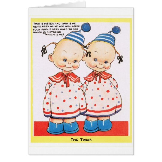 Twin sisters happy birthday greeting card zazzle twin sisters happy birthday greeting card bookmarktalkfo
