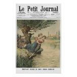 Twin sisters suicide - 1905 French newspaper print