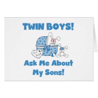Twin Sons Card