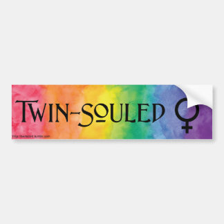 TWIN SOULED Bumper Sticker