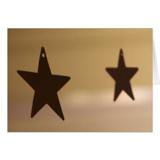 Twin Stars Greeting Card