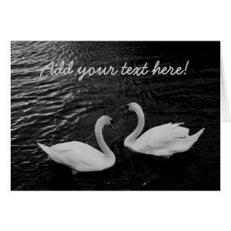 Twin Swans Card
