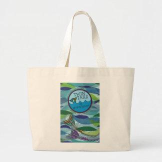 Twin Tails of Mason Beach Jumbo Tote Bag