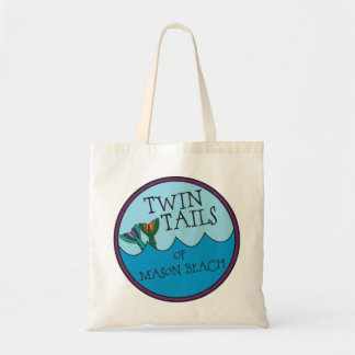 Twin Tails of Mason Beach Title Tote Bag