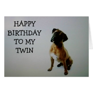 """TWIN"" TALKING BOXER SAYS HAPPY BIRTHDAY CARD"