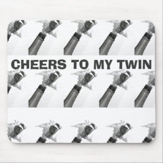 TWIN TO TWIN MOUSEPAD CHAMPAGNE GALORE TOAST
