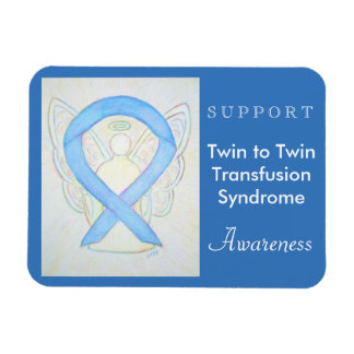 Twin to Twin Transfusion Syndrome Awareness Magnet Rectangular Photo Magnet