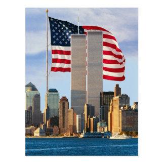 Twin Tower America Postcard