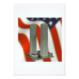 Twin Tower Memorial Card