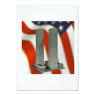 Twin Tower Memorial 5x7 Paper Invitation Card