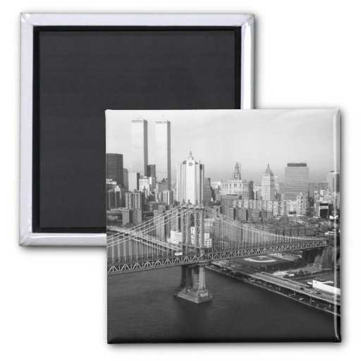 Twin Towers: 1991 2 Inch Square Magnet