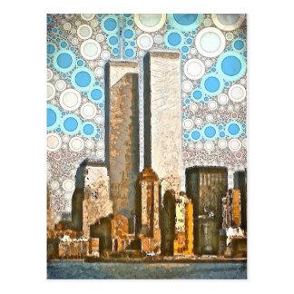 Twin Towers 1995 Postcard