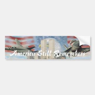 Twin Towers 9/11 Remembrance Bumper Sticker