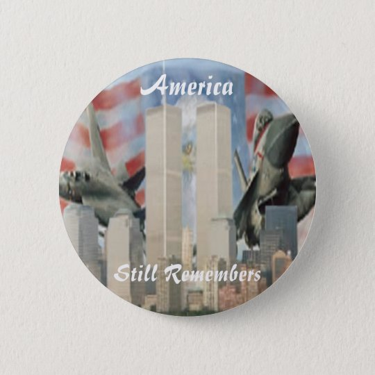 Twin Towers 9/11 Remembrance Button