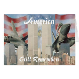 Twin Towers 9/11 Remembrance Card