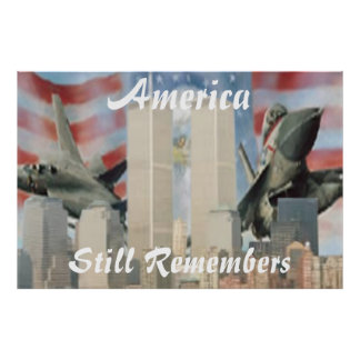 Twin Towers 9/11 Remembrance Poster