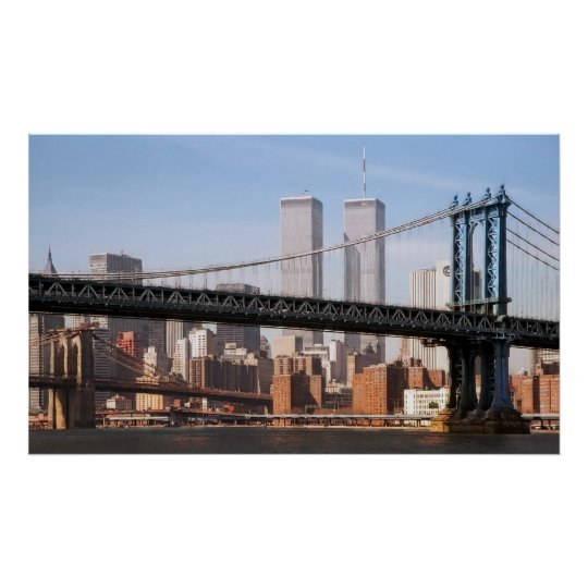 TWIN TOWERS and BRIDGES Poster