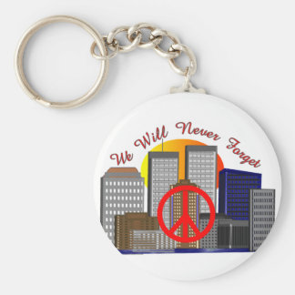 Twin Towers Art Gifts for All Ages Basic Round Button Keychain