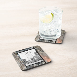Twin Towers Beverage Coaster