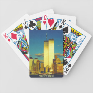 twin towers bicycle playing cards