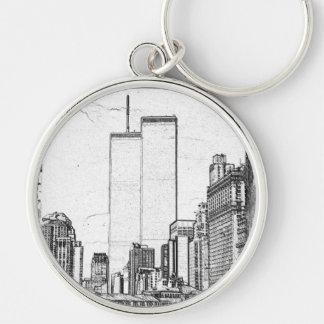 Twin Towers Keychain