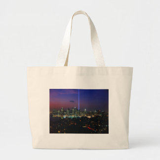 Twin towers large tote bag