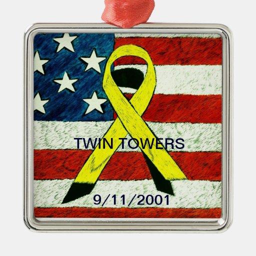 Twin Towers Memorial Keepsake Ornament