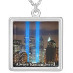 twin towers memorial pendant necklace