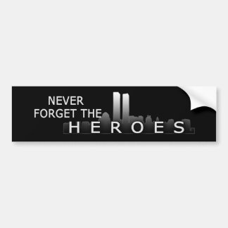 Twin Towers Never Forget Bumper Sticker