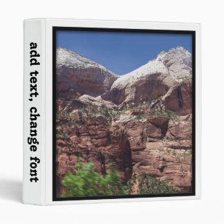 Twin Towers of the Virgin River, Zion 3 Ring Binders
