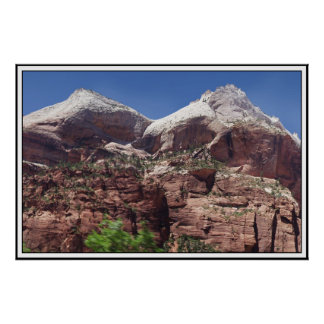 Twin Towers of the Virgin River, Zion Print